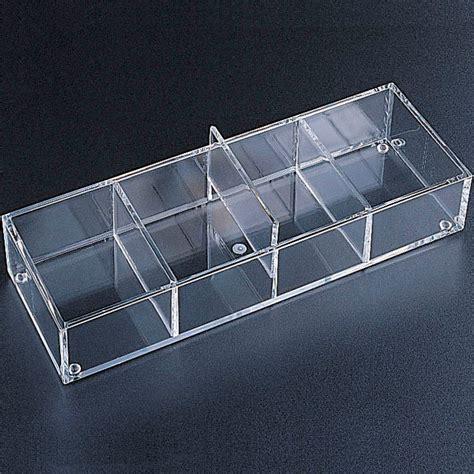 Acrylic Desk Drawer Organizer Acrylic Drawer Organizer 4 Sections In Drawer Bins