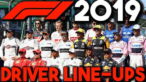2019 F1 Drivers by F1 2019 Driver Line Up Predictions