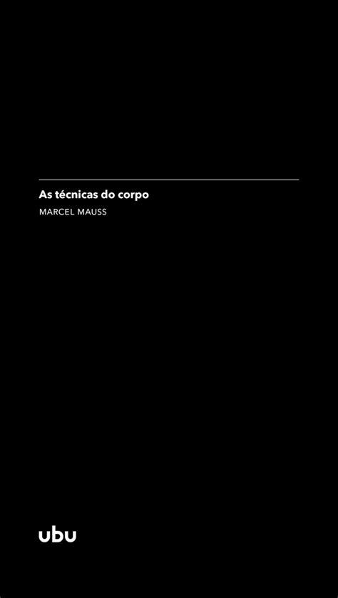 Leia As técnicas do corpo on-line de Marcel Mauss | Livros