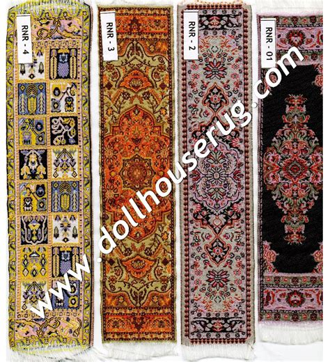 dollhouse rug 2x9 quot runner dollhouse rug miniature woven carpets 1 12 scale rnr 05 ebay