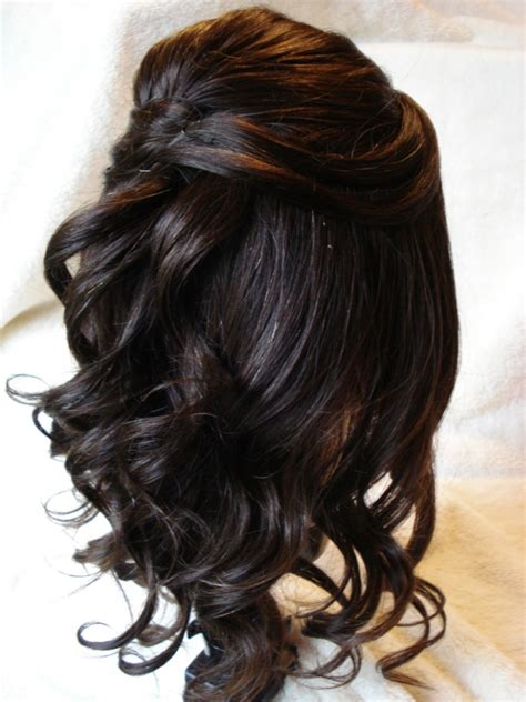 half up half down hairstyles for 50 year old 65 half up half down wedding hairstyles ideas magment