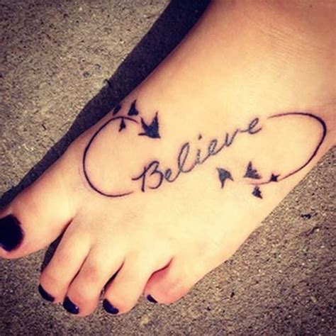 believe tattoo designs on foot 20 wonderful foot tattoos designs 2017 sheideas