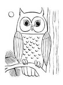 easy coloring books for adults print simple owl coloring pages