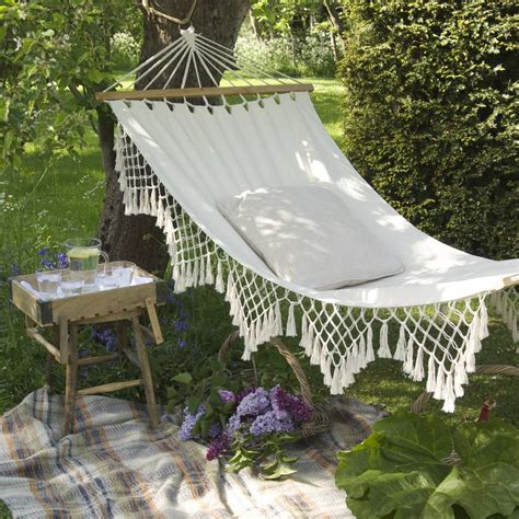 garden hammock swings lazy days large garden hammock by ella james