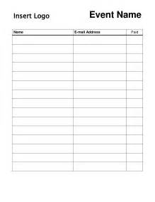 sign up sheet free template search results for sign up sheet editable