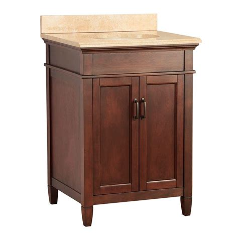 foremost ashburn 25 in w x 22 in d vanity in mahogany