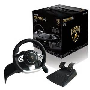 Steering Wheel Ps2 Ps3 Pc Official Lamborghini Racing Gallardo Evo Steering Wheel