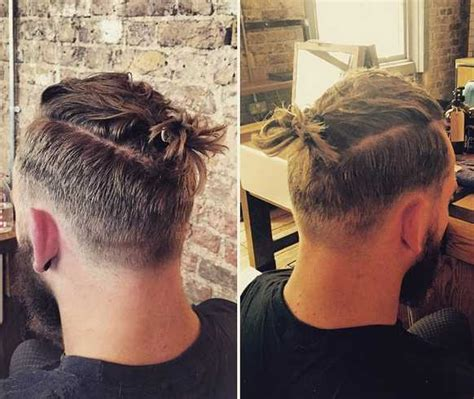 hipster topknot a cool topknot hairstyle with an undercut and a hipster