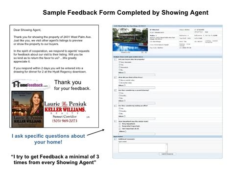 Home Feedback Power Point Real Estate Showing Feedback Form Template