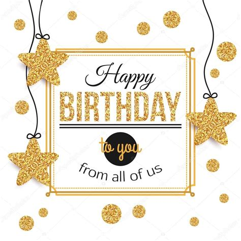 birthday card from all of us template birthday background with gold polka dots birthday