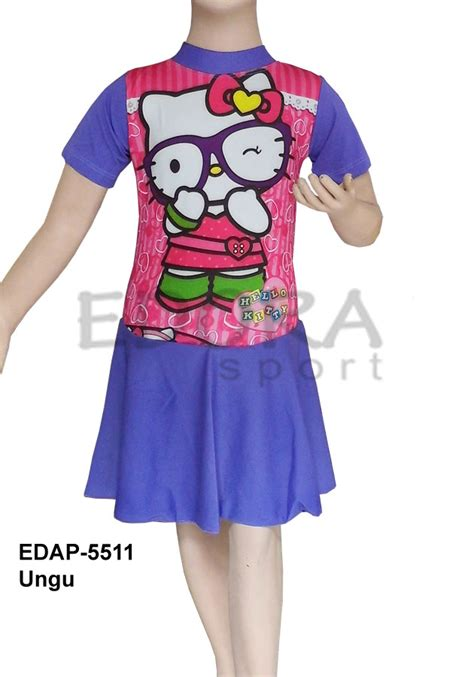 Baju Renang Anak Sd Cewek Perempuan Rok Rk Tg P 001 Baju Renang Diving Rok Karakter Edap 5511 Ungu