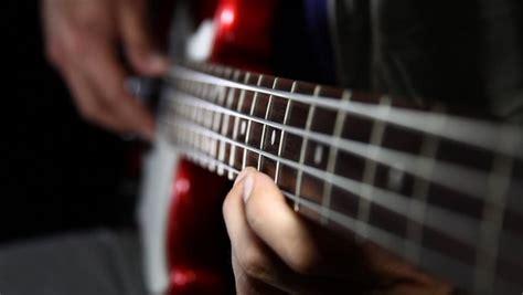 Guitar With Fingers 2 Buku Gitar up bass stock footage 1689910