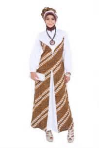 Gambar baju gamis muslim brokat terbaru model kombinasi