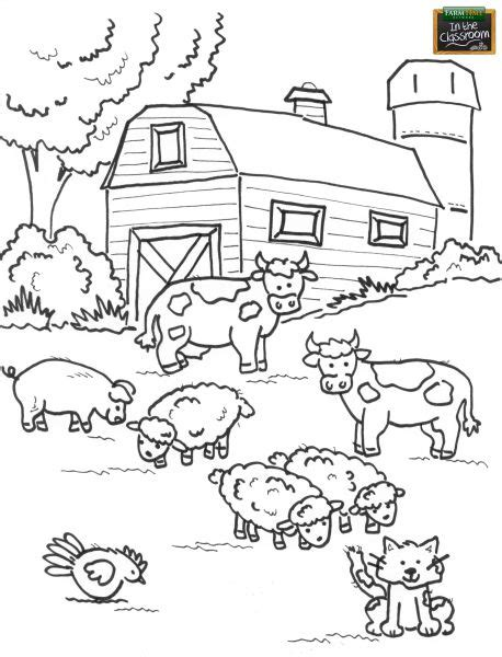 farm animals coloring pages preschool 84 best free teaching tools kids coloring pages images
