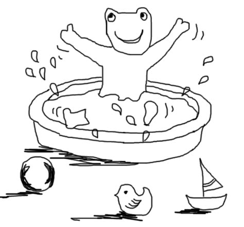 bath time coloring pages