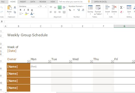 Group Schedule Templates For Excel Band Schedule Template