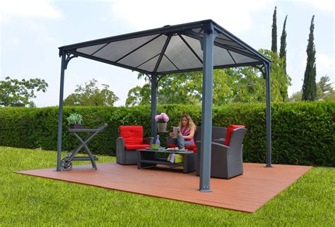 Pavillon 3x6 by 12ft X 12ft Palermo 3600 Gazebo W Polycarbonate Panels