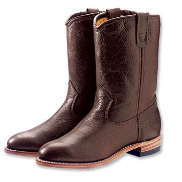 Kickers Boot Bison mens leather boots bison pull on insulated roper boots