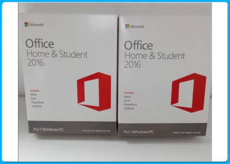 Microsoft Office Home And Student 2016 License Card 1 User Pc microsoft office 2016 home and student license key card