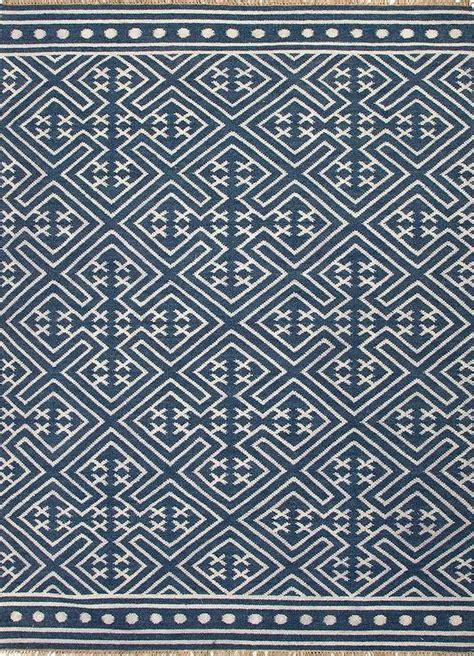 batik geometric pattern indigo batik rug