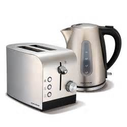 Stainless Steel Kettle And Toaster Set Brushed Stainless Steel Accents Jug Kettle And 2 Slice
