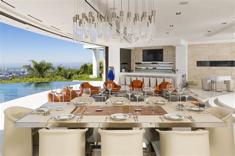 Mansion Dining Room by Astonishing Beverly Hills Mansion With Incomparable Glamour