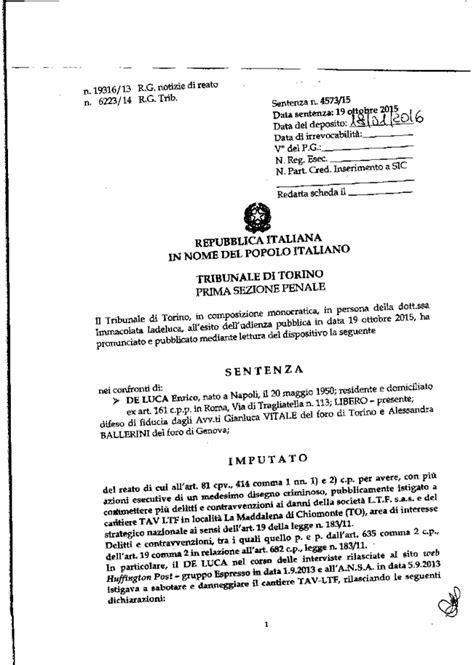 penale di sentenza processo a erri de luca doppiozero