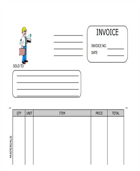 Blank Contractor Invoice Template Blank Contractor Invoice Template