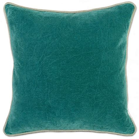 pacific coast pillows bed bath beyond buy villa home heirloom velvet square throw pillow in teal from bed bath beyond