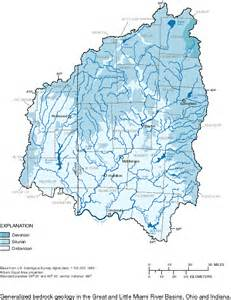 Little Miami River Map by Great And Little Miami River Basin Study Unit Maps