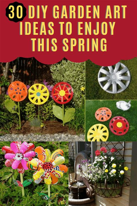 diy garden art ideas  enjoy  spring