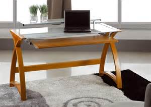 Glass And Wood Computer Desk Jual 900mm Curve Wood And Glass Computer Desk Home Office Desks Uk Ireland