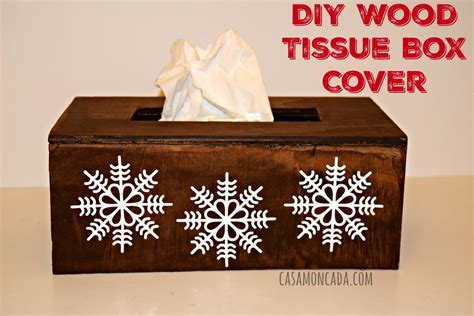 Inc Tissue Cover diy wood tissue box cover