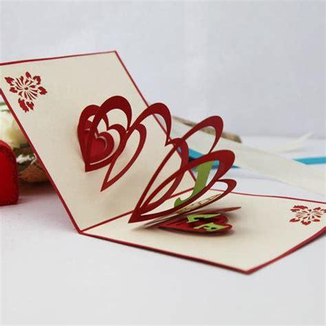 Creative Handmade Greeting Cards - xinyuan lines flowing creative diy handmade three