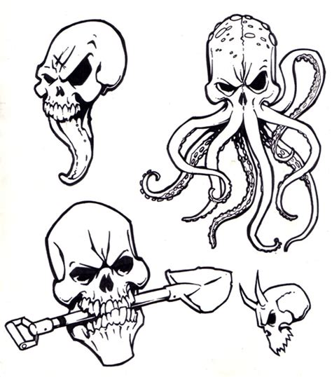 skull tattoo flash designs styles skull tatto flash