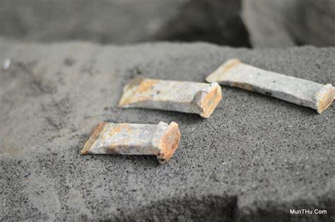 Sunglon Palu Alat Batu Cincin peralatan pahat batu merapi palu dan belah munthu