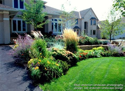landscape design minneapolis a welcoming entry courtyard soft textures minnesota