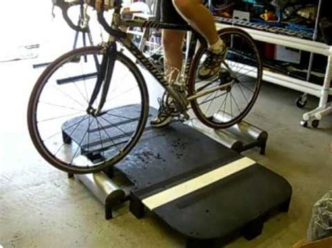 Roller Beat Kvy By Gjm bicycle rollers a plywood platform for on them