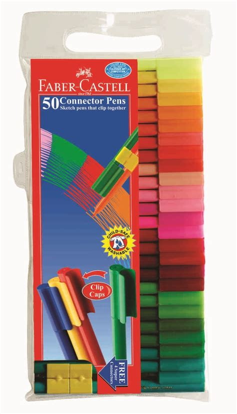 Connector Pen Faber Castell Isi 50 Warna faber castell connector pens set of 50 sketch pens htconline in hindustan trading company