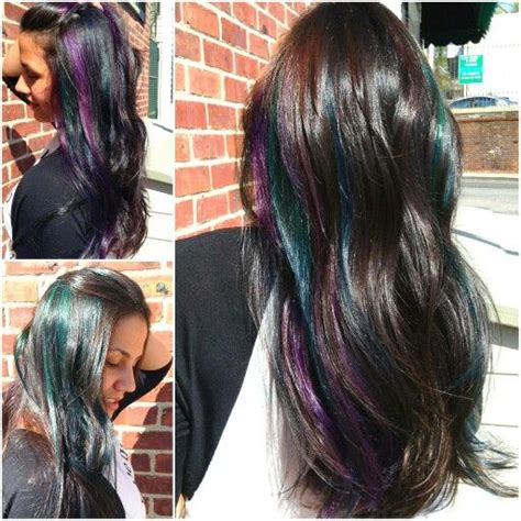 peek a boo hair color peek a boo hair color teal purple and cobalt blue with
