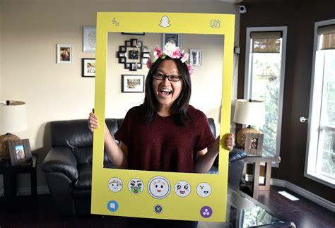 snapchat filter costume diy social media snapchat filter costume with photoshop file