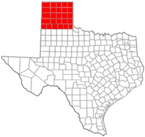texas panhandle county map texas panhandle