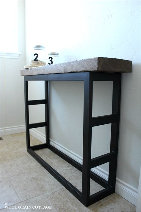 diy side table diy laundry room side table pottery barn style the wood