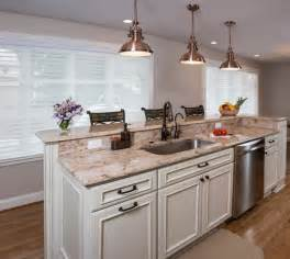Islands cabinets and pendant lights on pinterest