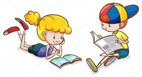imagenes de niños jugando y leyendo una ni 241 a y un ni 241 o leyendo vector de stock