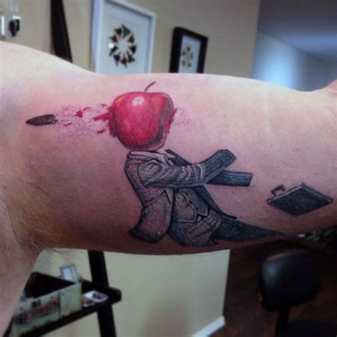 bite the bullet tattoo 75 apple designs for bite into ink ideas