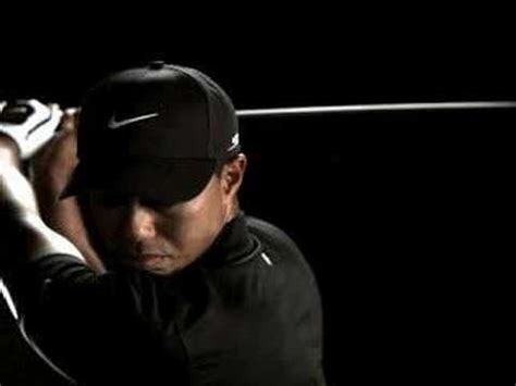 tiger woods swing portrait nike golf tv commercial featuring tiger woods swing