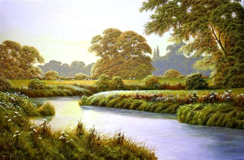 Terry Grundy Autumn Coming Landscape Painting River River Landscaping
