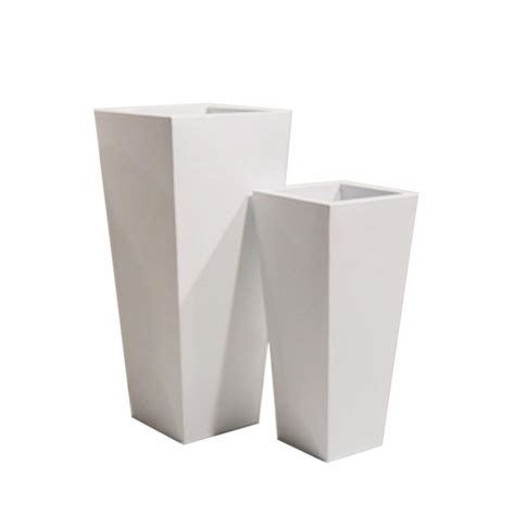 vasi metallo vaso metallo bianco e o grigio met0374b contenitori