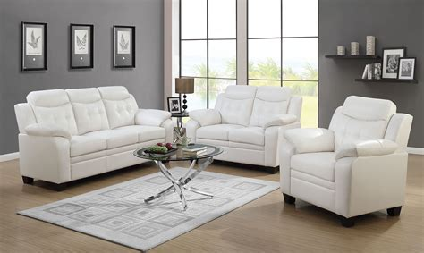 finley white living room set from coaster coleman furniture